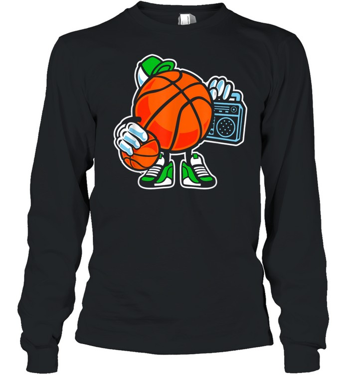 Street basketball love sports action shirt Long Sleeved T-shirt