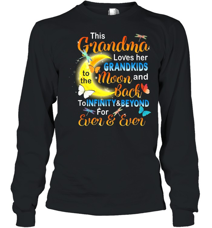 This Grandma Loves her Grandkids To The Moon And Back shirt Long Sleeved T-shirt