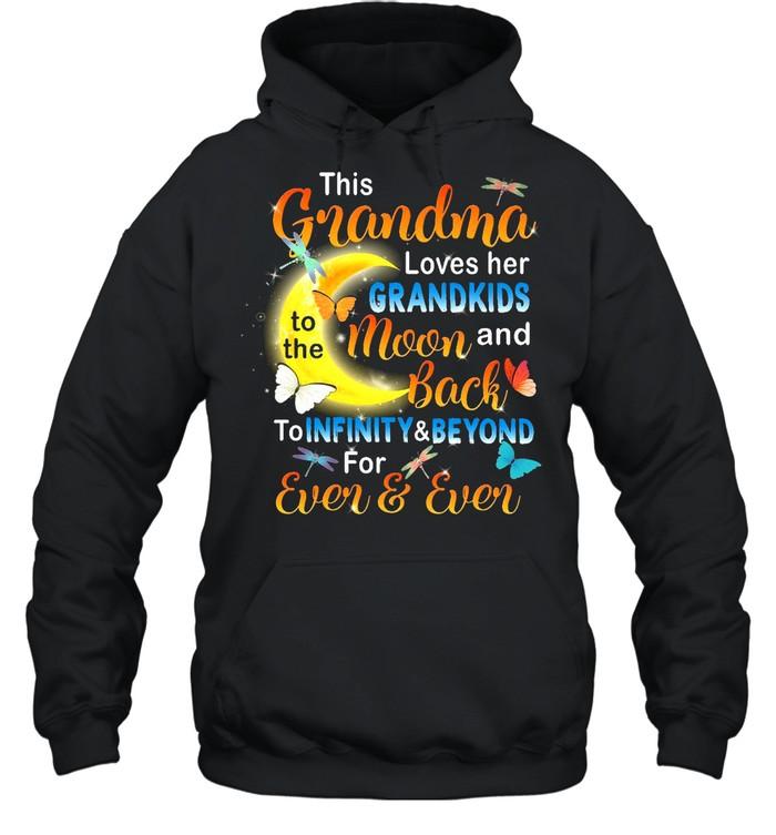 This Grandma Loves her Grandkids To The Moon And Back shirt Unisex Hoodie