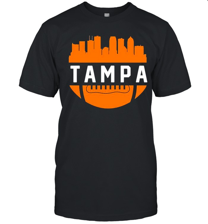 Vintage Tampa Bay Football City Skyline shirt