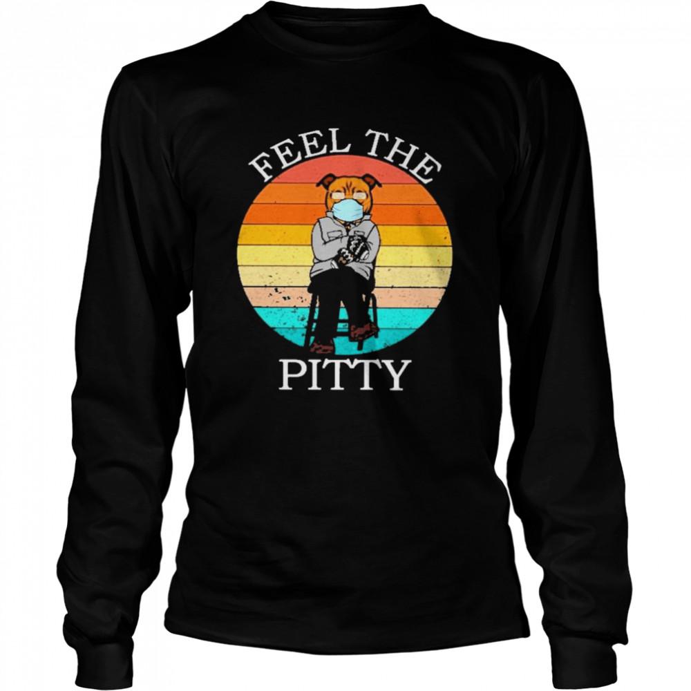 Bernie sanders pug feel the peity vintage shirt Long Sleeved T-shirt