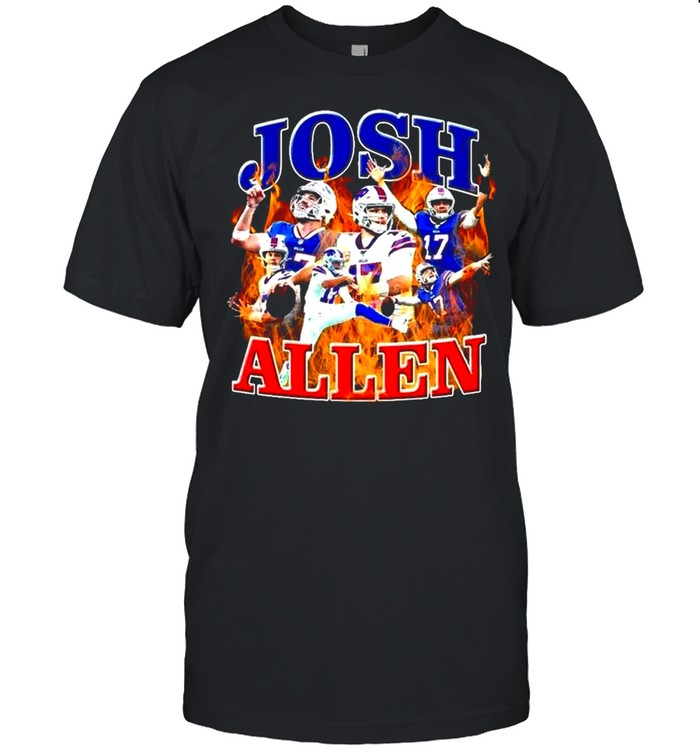 The Fire Josh Allen Of Buffalo Bills 2021 shirt Classic Men's T-shirt