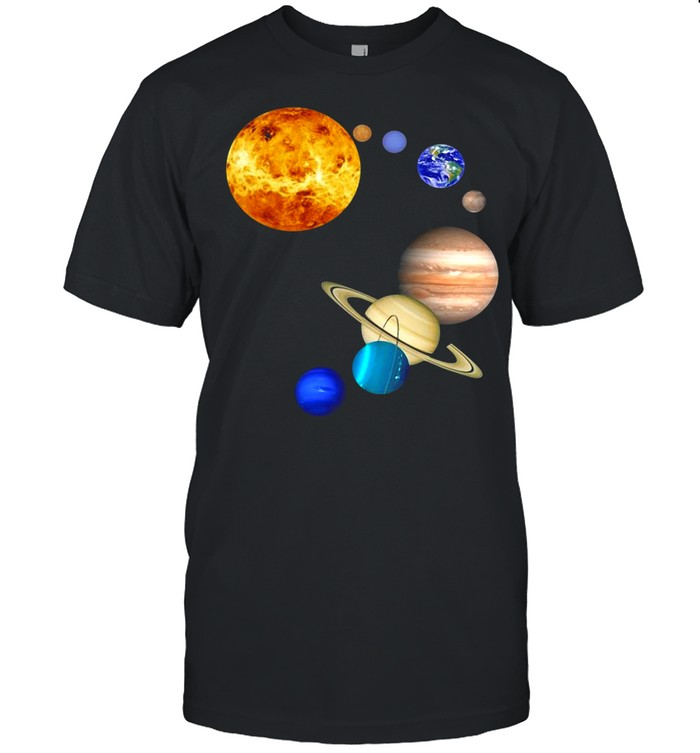 Planets In Solar System Science shirt