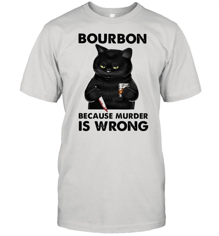Bouron Because Murder Is Wrong Cat shirt