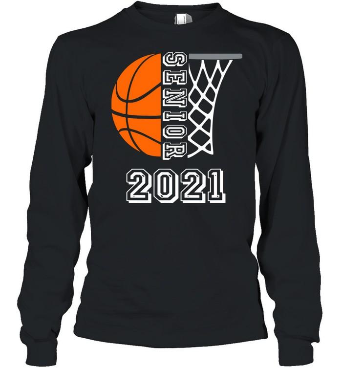 Graduate Senior Class 2021 Graduation Basketball Player shirt Long Sleeved T-shirt