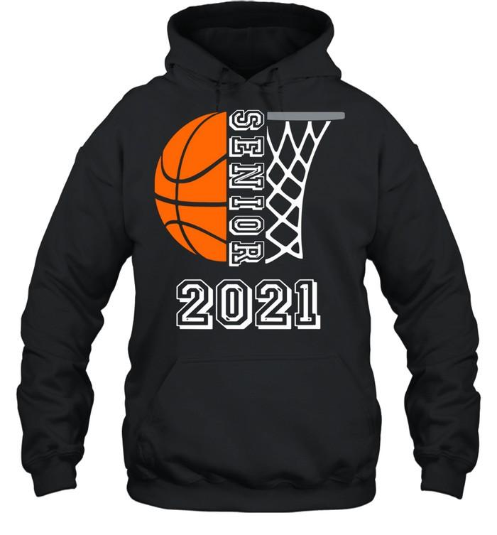 Graduate Senior Class 2021 Graduation Basketball Player shirt Unisex Hoodie