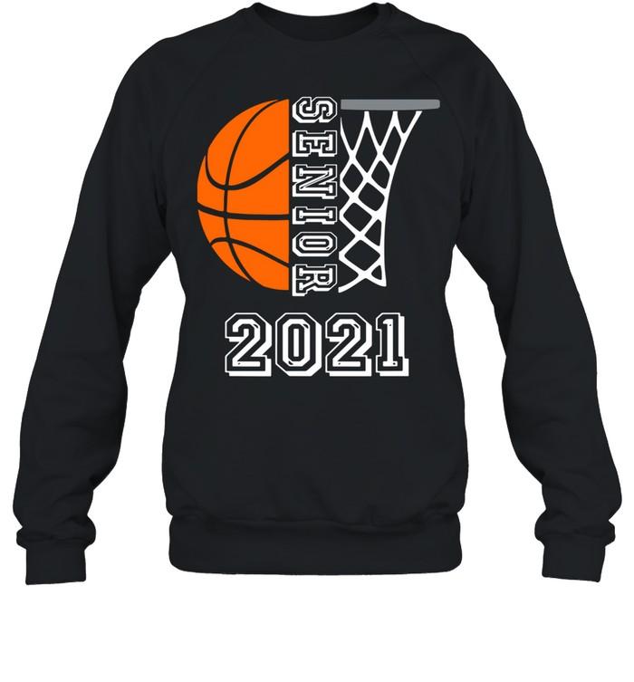 Graduate Senior Class 2021 Graduation Basketball Player shirt Unisex Sweatshirt