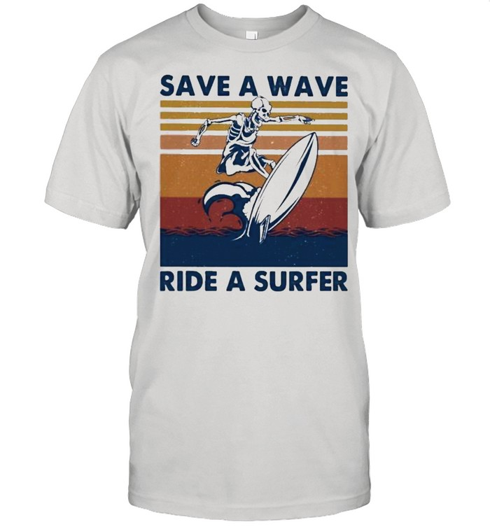 Save a wave ride a surfer shirt Classic Men's T-shirt