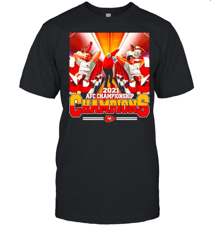 Kansas City Chiefs AFC Championship 2021 Champions bus shirt