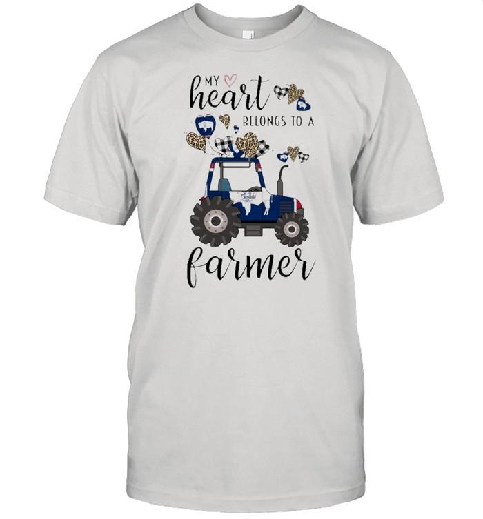 My heart belongs to a Farmer Wyoming 2021 shirt Classic Men's T-shirt