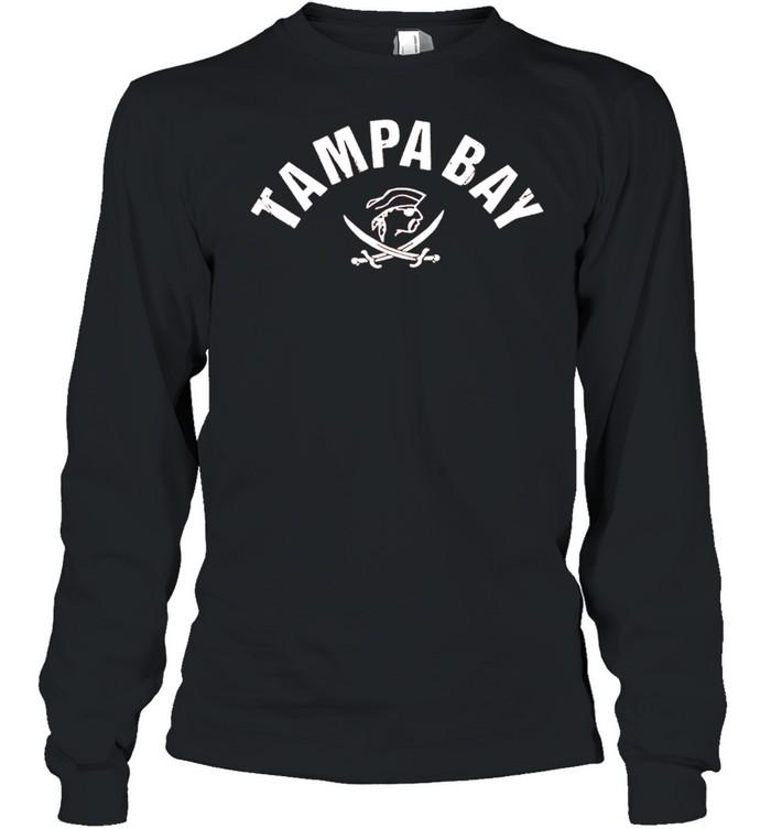 Tampa Bay Old School Pirate TB Cool Tampa Bay shirt Long Sleeved T-shirt