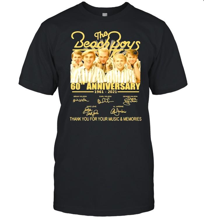 The Beach Boys 60th Anniversary 1961 2021 Thank You For The Memories Signature shirt Classic Men's T-shirt