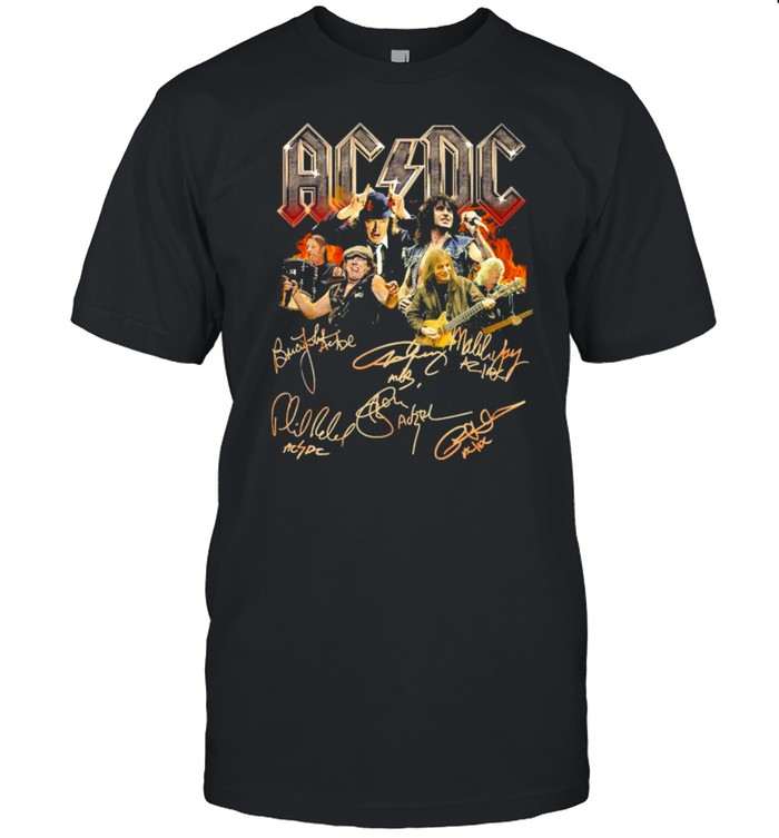 ACDC Band All Members Signatures shirt