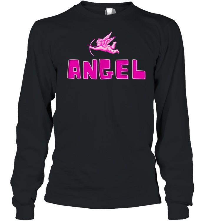 Angel Y2k Aesthetic Cherub Vintage Trendy 2000s Cupid Pink shirt Long Sleeved T-shirt