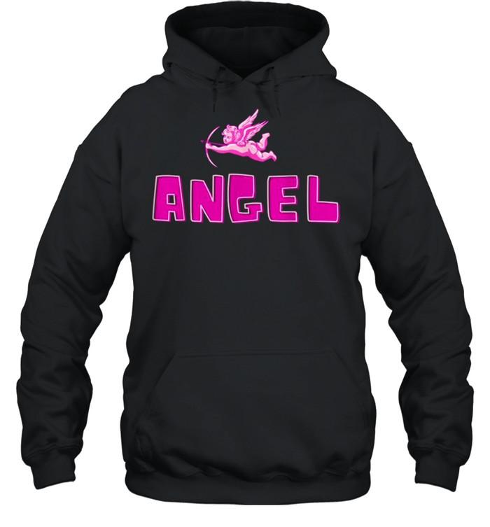 Angel Y2k Aesthetic Cherub Vintage Trendy 2000s Cupid Pink shirt Unisex Hoodie