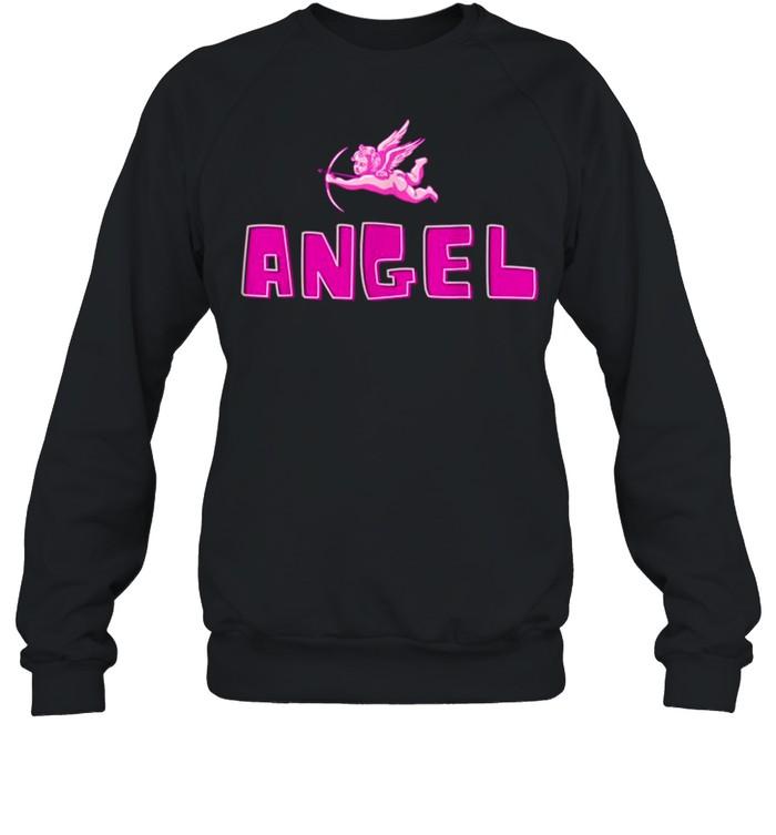 Angel Y2k Aesthetic Cherub Vintage Trendy 2000s Cupid Pink shirt Unisex Sweatshirt