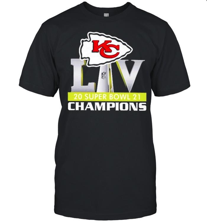 Logo Kansas City Chiefs Liv 2021 Super Bowl Champions shirt