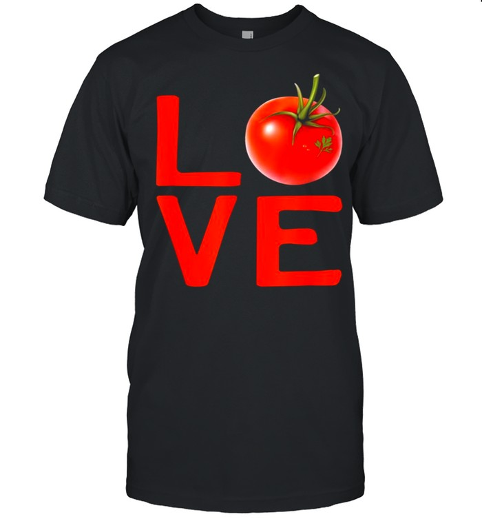 Red Tomato Gardener I Love Gardening Vegetables Vegan Food shirt