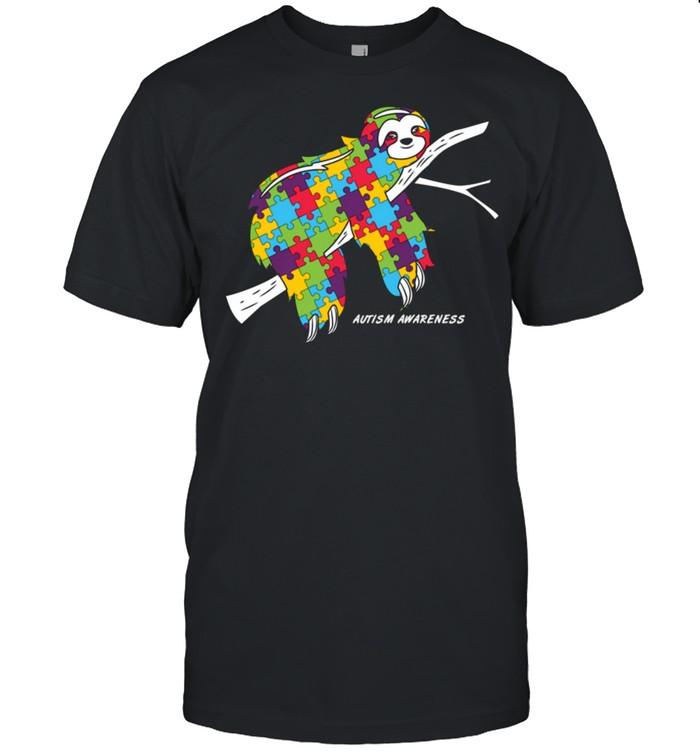 Sloth Autism Awareness shirt Classic Men's T-shirt