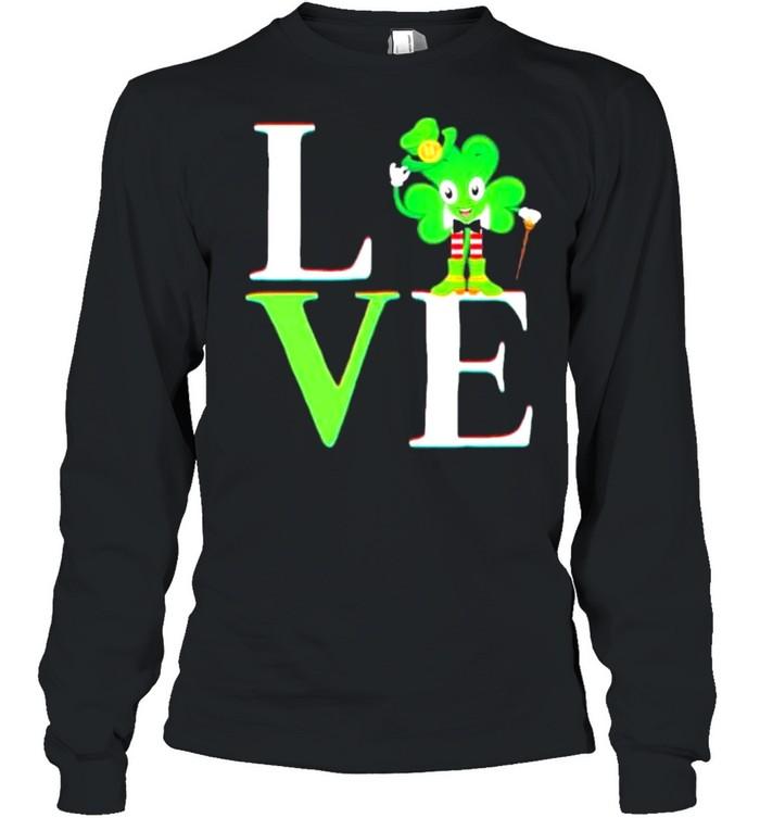 St Patricks day 2021 shamrock love Patricks shirt Long Sleeved T-shirt