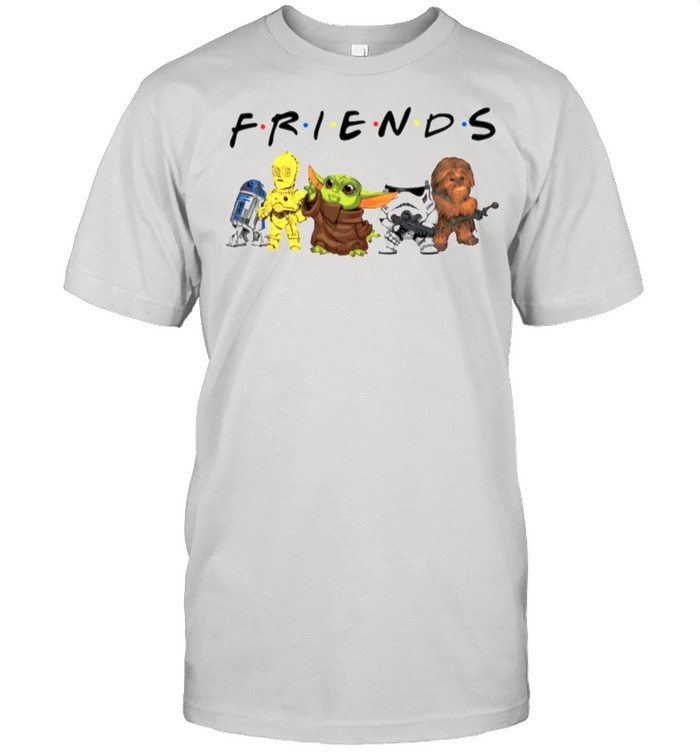 Star War Baby Yoda R2d2 Chewbacca Parappa Bot And Battlefront With Friends shirt