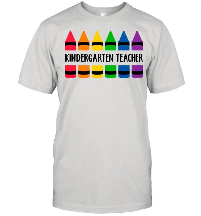 Crayon color kindergarten teacher shirt