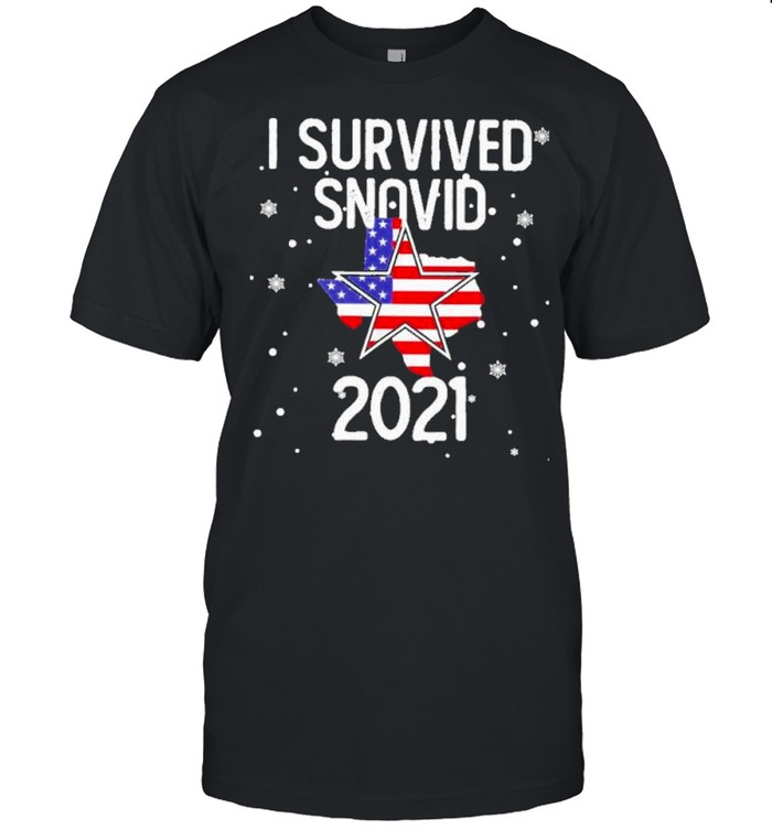I survived snovid 2021 american flag shirt