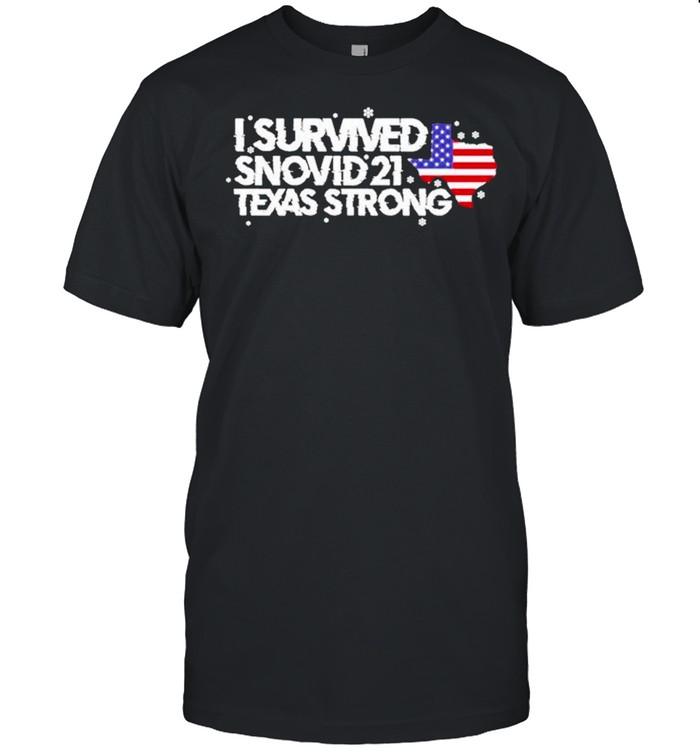 I survived Snovid 2021 Texas Strong America flag shirt