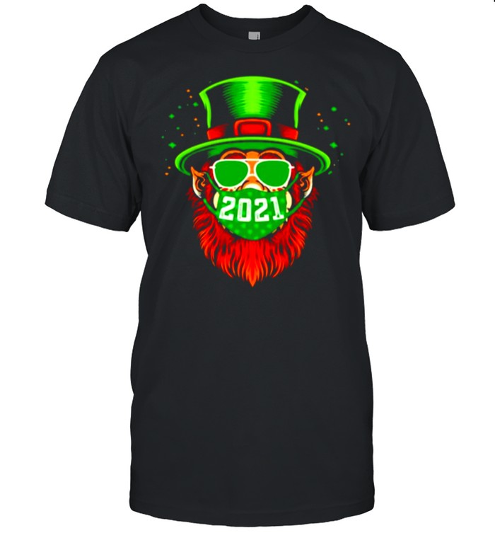 St Patricks day Leprechaun mask 2021 shirt