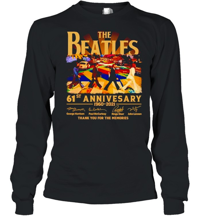 Abbey Road 61st Anniversary The Beatles 1960 2021 signature shirt Long Sleeved T-shirt
