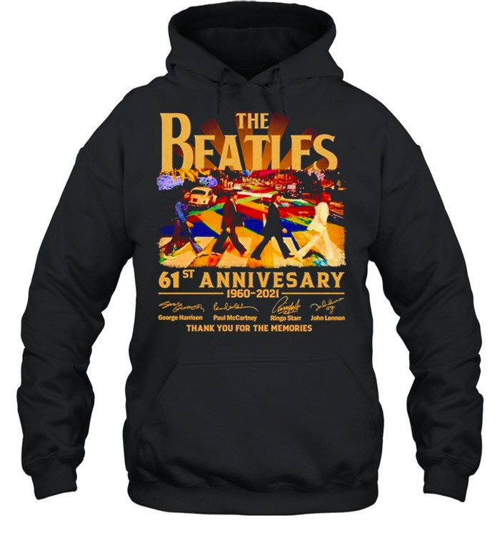 Abbey Road 61st Anniversary The Beatles 1960 2021 signature shirt Unisex Hoodie