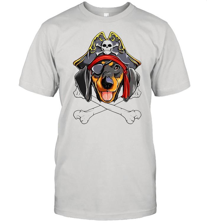 Caribbean Beads Dachshund Pirate shirt