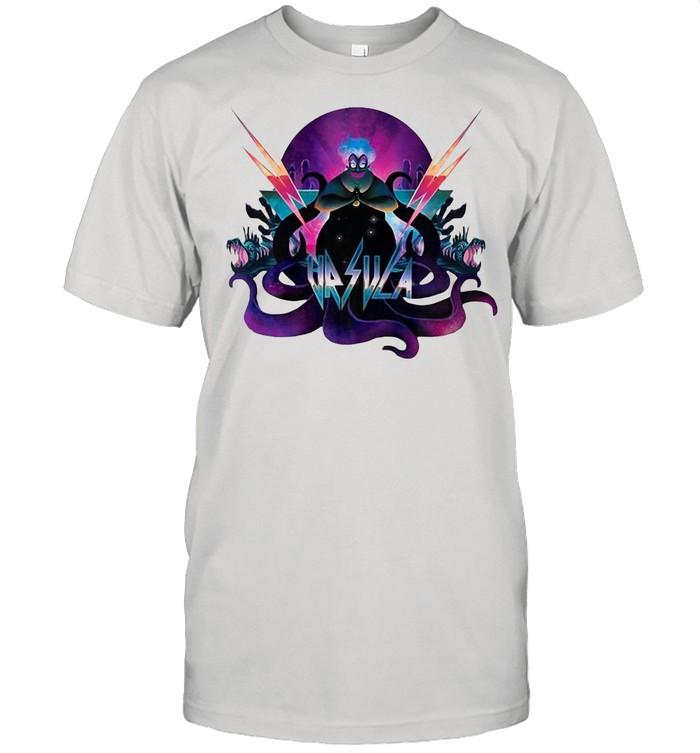 Disney Villains Ursula 90S Rock Band Neon shirt