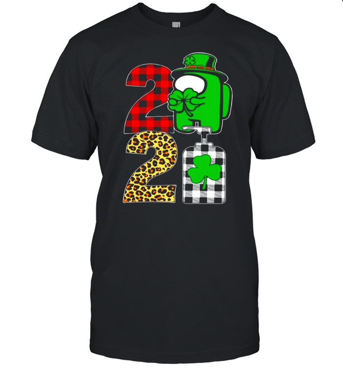 Impostor Among Us Plaid St Patricks Day 2021 With Covid19 shirt