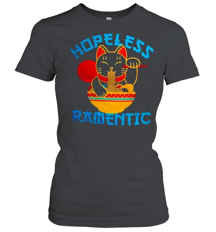 Lucky Cat Hopeless Ramentic shirt Classic Women's T-shirt