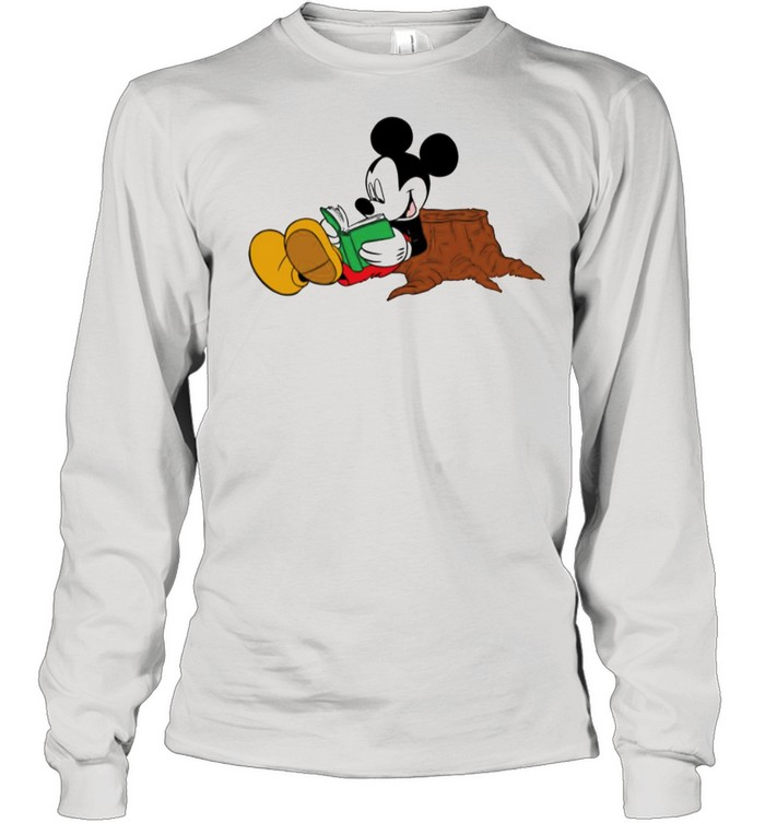 Mickey Mouse reading books shirt Long Sleeved T-shirt