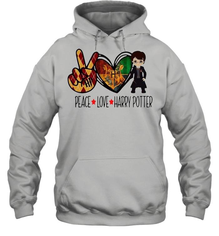 Peace Love Harry Potter shirt Unisex Hoodie