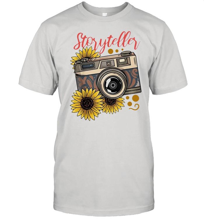 Photography Storyteller Sunflower Camera shirt Classic Men's T-shirt
