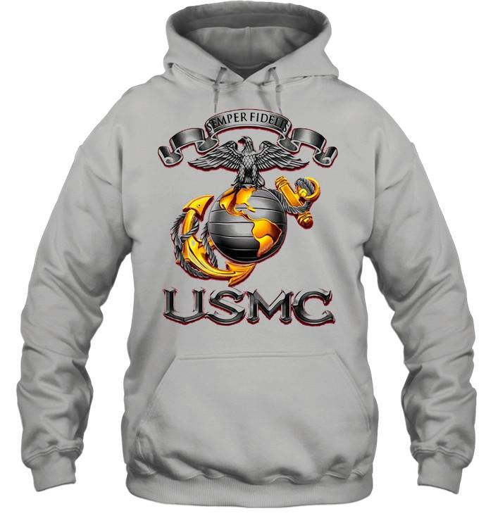 Semper Fidelis USMS Eagle shirt Unisex Hoodie