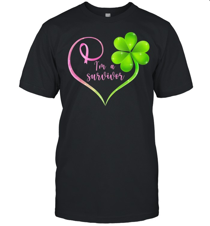 I'm A Survivor Heart St Patrick's Day shirt