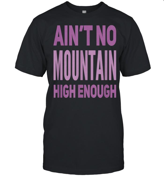 Aint No Mountain High Enough Pick Checkered Effect shirt