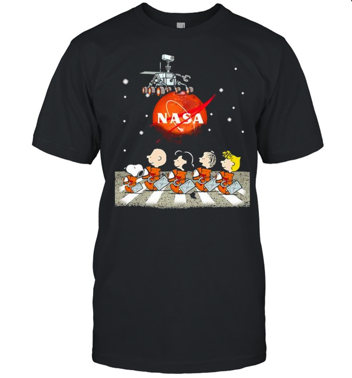 Snoopy Charlie And Friends The Beatles Nase Perseverance Mars shirt