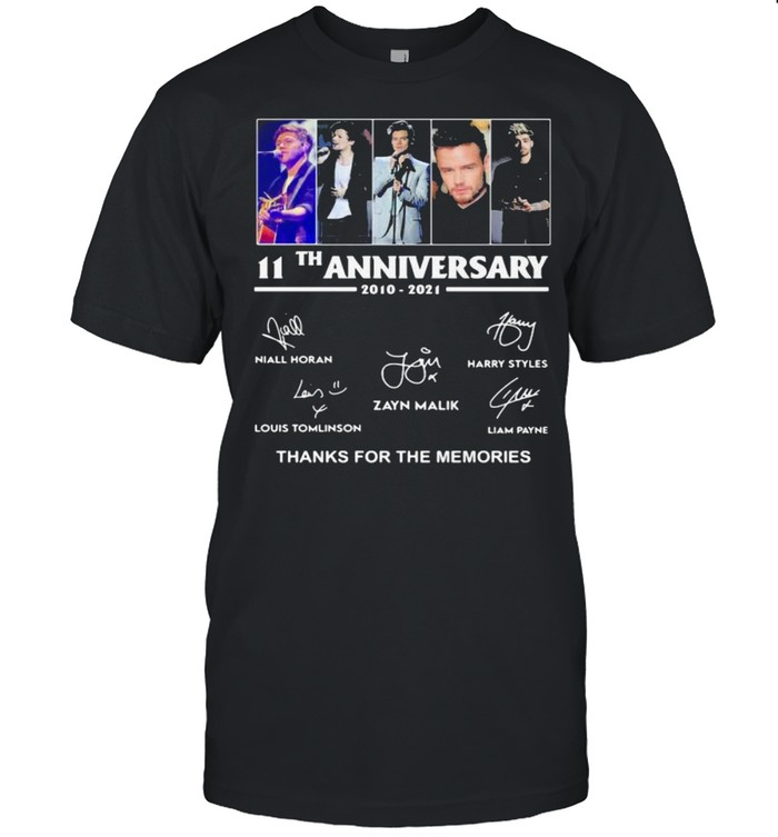 11th Anniversary One Direction Thank You For The Memories shirt