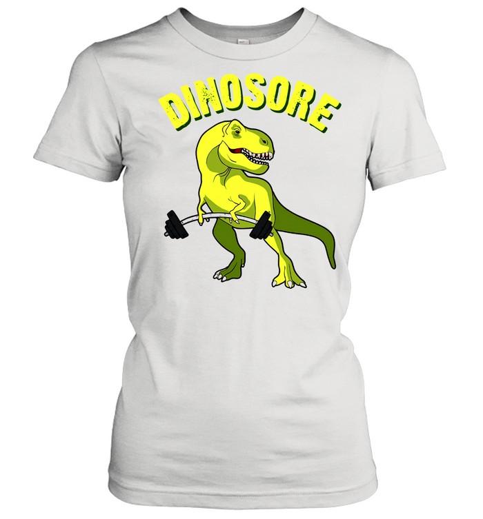 Dinosaur Dinosore Gym shirt Classic Women's T-shirt