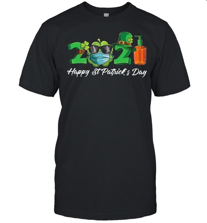 2021 Shamrock Face Mask Happy St Patrick's Day shirt