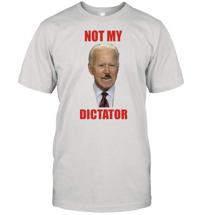 Biden with hitler not my dictator shirt