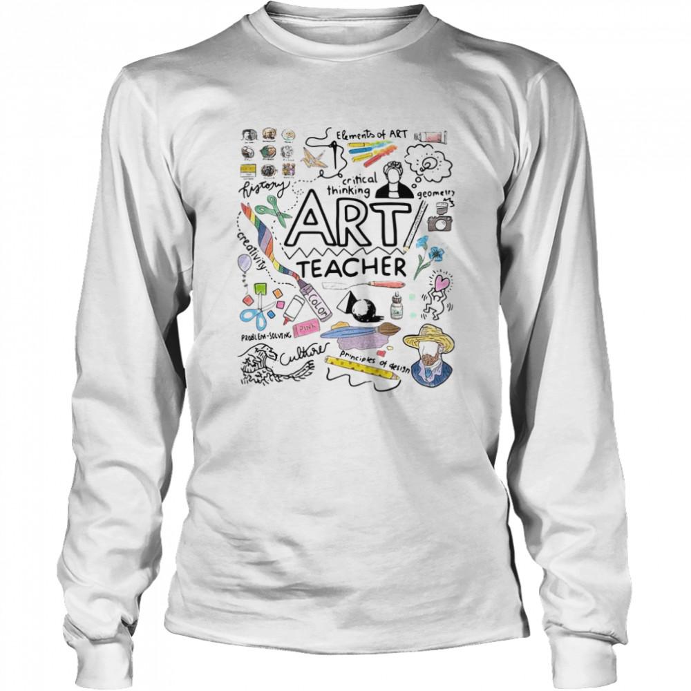 Elements Of Art Critical Thinking Art Teacher shirt Long Sleeved T-shirt