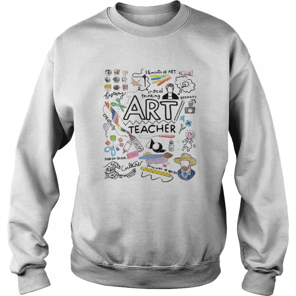 Elements Of Art Critical Thinking Art Teacher shirt Unisex Sweatshirt