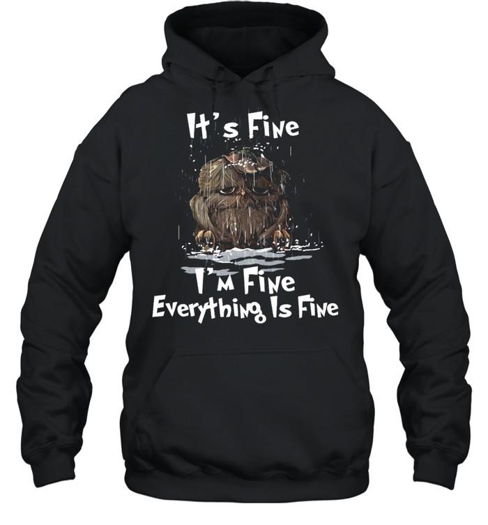 Its Fine Im Fine Everything Is Fine shirt Unisex Hoodie