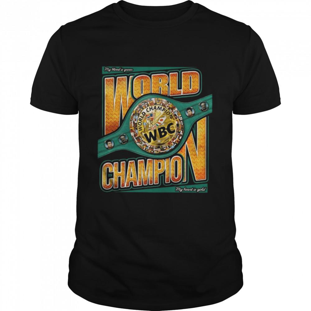 My blood is green world Champion WBC shirt Classic Men's T-shirt